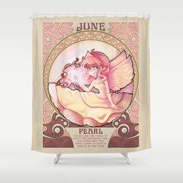 Birthstone Nouveau - June Shower Curtain