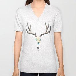 Low poly deer's skull Unisex V-Neck