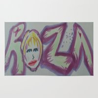 blondie Area & Throw Rugs featuring Blondie Roza by J. Roza