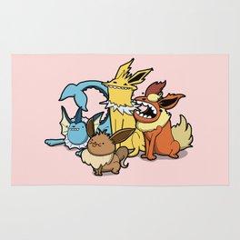 Pokémon - Number 133, 134, 135 and 136 Rug