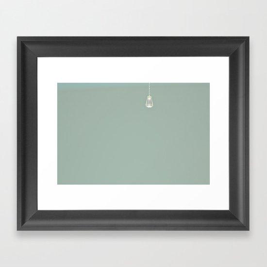 Lone drop Framed Art Print