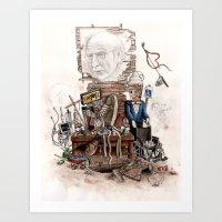 larry david Art Prints featuring LARRY DAVID by Kyle Norris