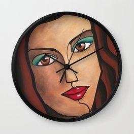 Middle East Woman Wall Clock