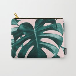 Tropical Monstera Leaves Dream #1 #tropical #decor #art #society6 Carry-All Pouch