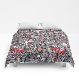 Red Cats Comforters