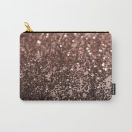 Rose Gold Glitter #1 #sparkling #decor #art #society6 Carry-All Pouch