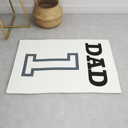 Dad 1 Child Funny Father Day Gift Rug