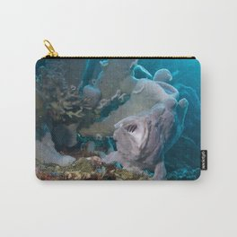 Surprise! (Frogfish with its mouth wide open) Carry-All Pouch