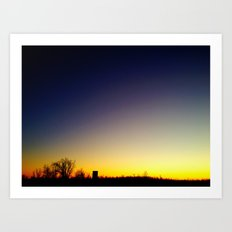 Granular Sunset 2 Art Print