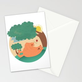 bear-ther and daughter-ooo nina bobo Stationery Cards