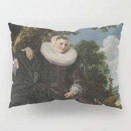 Frans Hals, Portrait of a Couple, circa 1622. Pillow Sham
