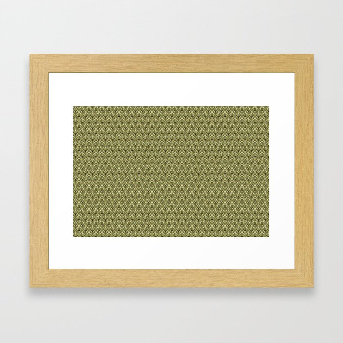 Yellow Apples Pattern Framed Art Print