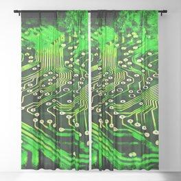 platine board conductor tracks splatter watercolor Sheer Curtain