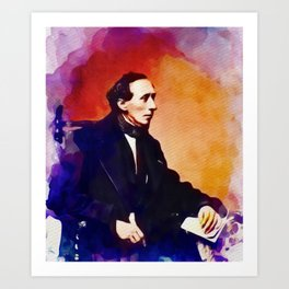 Hans Christian Andersen, Literary Legend Art Print
