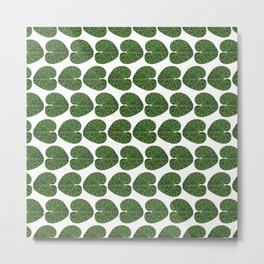 Cyclamen leaf pattern Metal Print