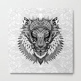 lion aztec art pattern Metal Print