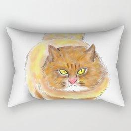 Battle Fat Cat Rectangular Pillow