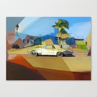 simpson Canvas Prints featuring Simpson St. by Nuno