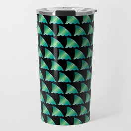 Green shark fin pattern Travel Mug