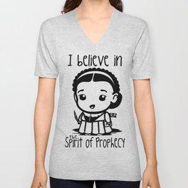 I believe in the Spirit of Prophecy Unisex V-Neck