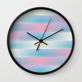 Pink Blue and Yellow Weave Pattern Wall Clock