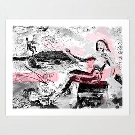 Finding Poise Art Print