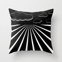 Dark Sky on the Horizon Throw Pillow