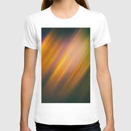 Abstract background blur motion rainbow T-shirt