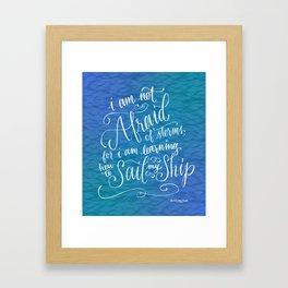 Sail My Ship Framed Art Print