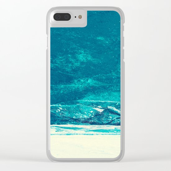 Icy Wave Pattern Clear iPhone Case