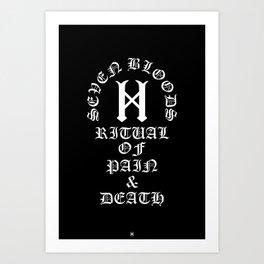 Seven Bloods Art Print