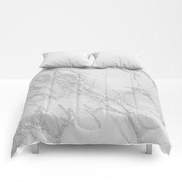 Marble Love Silver Metallic Comforters