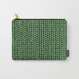 Forest Green Knit Carry-All Pouch