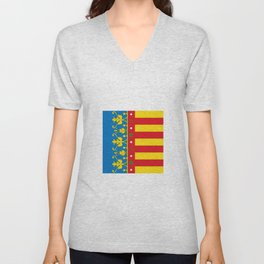 flag of Valence Unisex V-Neck