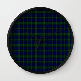 "CAMPBELL CLAN  ""BLACK WATCH"" SCOTTISH  KILTS TARTAN DESIGN Wall Clock"
