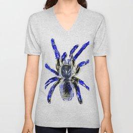 Tarantula Blue Unisex V-Neck