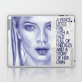 Fierce little girl Laptop & iPad Skin