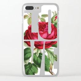 LOVE Romantic Ladies Design Clear iPhone Case