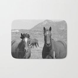 Horses Staring Bath Mat