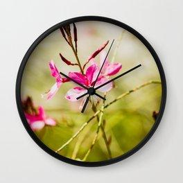 Butterflies in the Wind Wall Clock