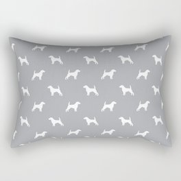 Beagle dog pattern grey and white simple basic dog breeds repeat pattern beagles dog Rectangular Pillow