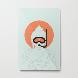 Buddha : Take A Deep Breath! Metal Print