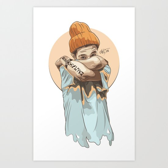 Swag boy Art Print