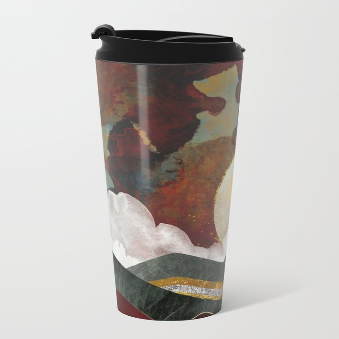 Red Sky Metal Travel Mug