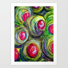 Olives in a Jar Art Print