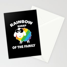 Rainbow Sharp Stationery Cards