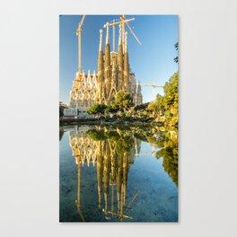 The Sagrada Familia in Barcelona, Spain Canvas Print