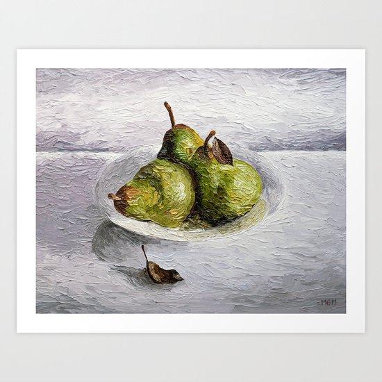 Three Pear Still Life Art Print