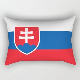 Slovakian Flag - High Quality Image Rectangular Pillow