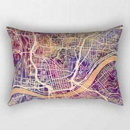 Cincinnati Ohio City Map Rectangular Pillow